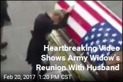 Heartbreaking Video Shows Army Widow's Reunion With Husband