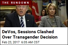 DeVos 'Resisted Trump on Transgender Move'