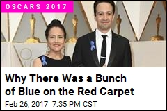 Why There Was a Bunch of Blue on the Red Carpet
