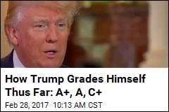 How Trump Grades Himself Thus Far: A+, A, C+