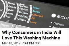 In India, New Washing Machine Features 'Curry' Button