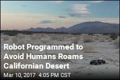 Robot Programmed to Avoid Humans Roams Californian Desert