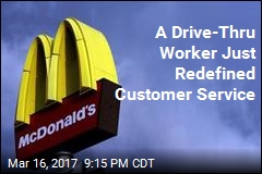 Drive-Thru Worker Jumps Out Window to Save Customer