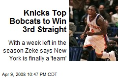 Knicks Top Bobcats to Win 3rd Straight