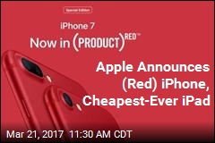 Apple Announces (Red) iPhone
