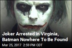 Police Arrest Man Carrying Sword, Dressed as Joker