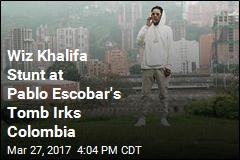 Wiz Khalifa Smokes at Pablo Escobar's Tomb, Colombia Not Happy