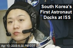 South Korea's First Astronaut Docks at ISS