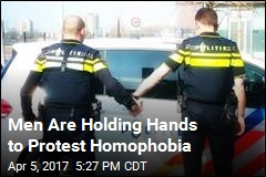 Men Are Holding Hands to Protest Homophobia