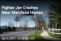 Fighter Jet Crashes Near Maryland Homes