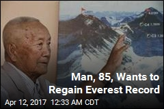 Man, 85, Wants to Regain Everest Record