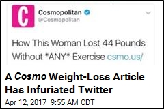 A Cosmo Weight-Loss Article Has Infuriated Twitter