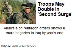 Troops May Double in 'Second Surge'