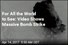 Pentagon Shares Video of Massive Bomb Strike