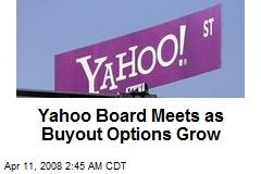Yahoo Board Meets as Buyout Options Grow