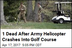 1 Dead After Army Helicopter Crashes Into Md. Golf Course