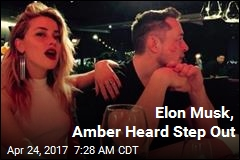 Elon Musk, Amber Heard Step Out