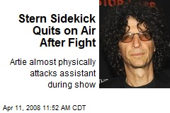 Stern Sidekick Quits on Air After Fight