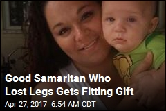 Good Samaritan Who Lost Legs Gets Fitting Gift