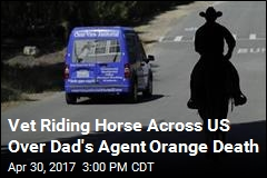 Iraqi War Vet Riding Horse Across US for His Dad