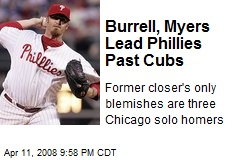 Burrell, Myers Lead Phillies Past Cubs