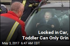Locked in Car, Toddler Can Only Grin