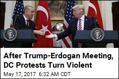 After Trump-Erdogan Meeting, DC Protests Turn Violent