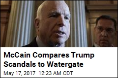 McCain Compares Trump Scandals to Watergate