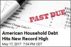 American Household Debt Hits New Record High