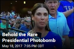 Behold the Rare Presidential Photobomb