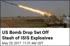 US Bombed ISIS Explosives, Killed 105 Civilians