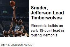 Snyder, Jefferson Lead Timberwolves