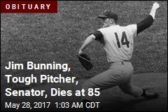 Jim Bunning, Tough Pitcher, Senator, Dies at 85