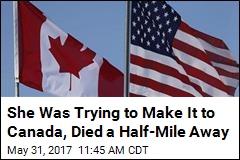 Woman Headed for Canada Found Dead Near Border