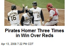 Pirates Homer Three Times in Win Over Reds