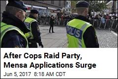 After Cops Raid Party, Mensa Applications Surge