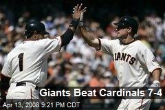Giants Beat Cardinals 7-4