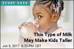 Drinking Cow's Milk May Make Kids Taller
