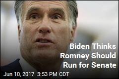 Biden Thinks Romney Should Run for Senate