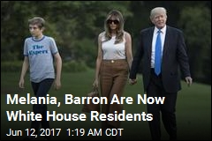 Melania, Barron Move Into White House