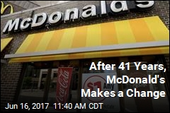 After 41 Years, McDonald's Makes a Change