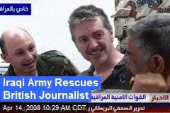 Iraqi Army Rescues British Journalist