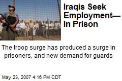 Iraqis Seek Employment— In Prison