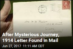 After Mysterious Journey, 1914 Letter Found in Mail