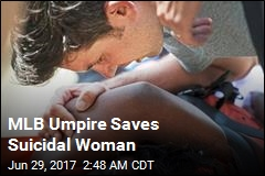 MLB Umpire Saves Suicidal Woman