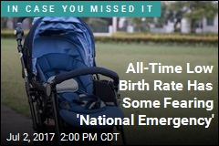 All-Time Low Birth Rate Has Some Fearing 'National Emergency'