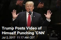 Trump Beats Up 'CNN' in New Twitter Video
