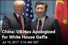 China: US Has Apologized for Name Gaffe