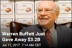 Warren Buffett Just Gave Away $3.2B
