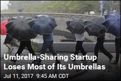 Umbrella-Sharing Startup Loses Most of Its Umbrellas